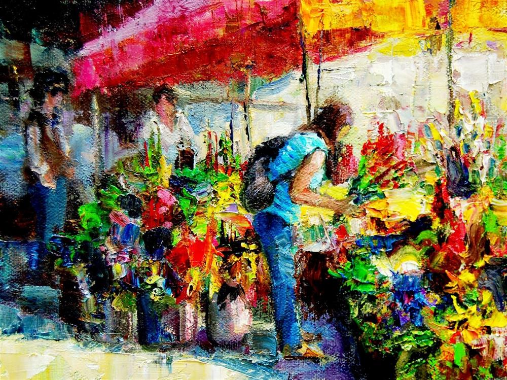 """Farmers Market #16"" original fine art by Julie Ford Oliver"