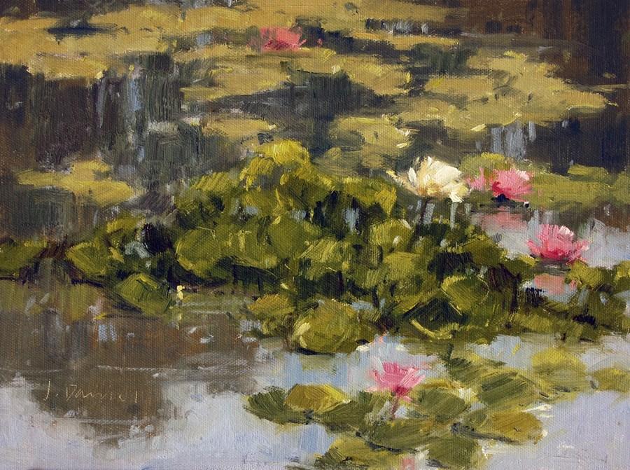 """Lily Pool"" original fine art by Laurel Daniel"
