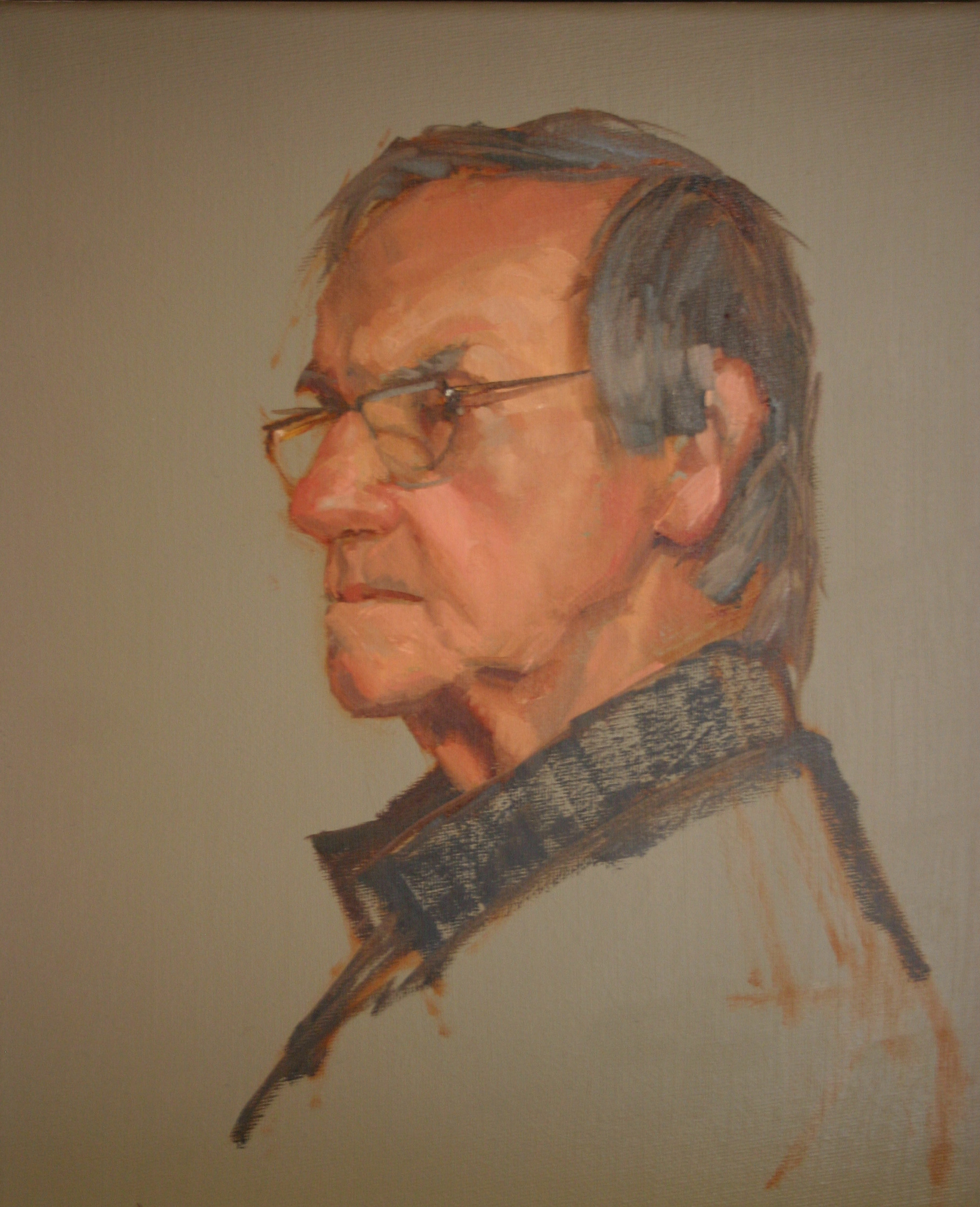 """Profile study of Ken"" original fine art by Liz Balkwill"