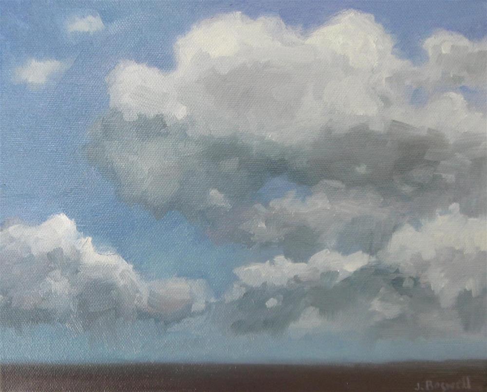 """Cloud Study Three"" original fine art by Jennifer Boswell"