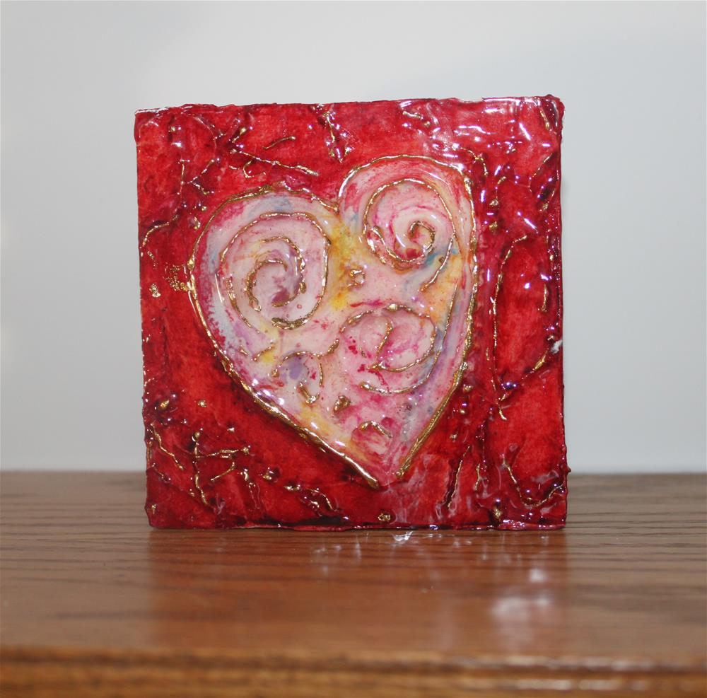 """With All My Heart Miniature"" original fine art by Christiane Kingsley"