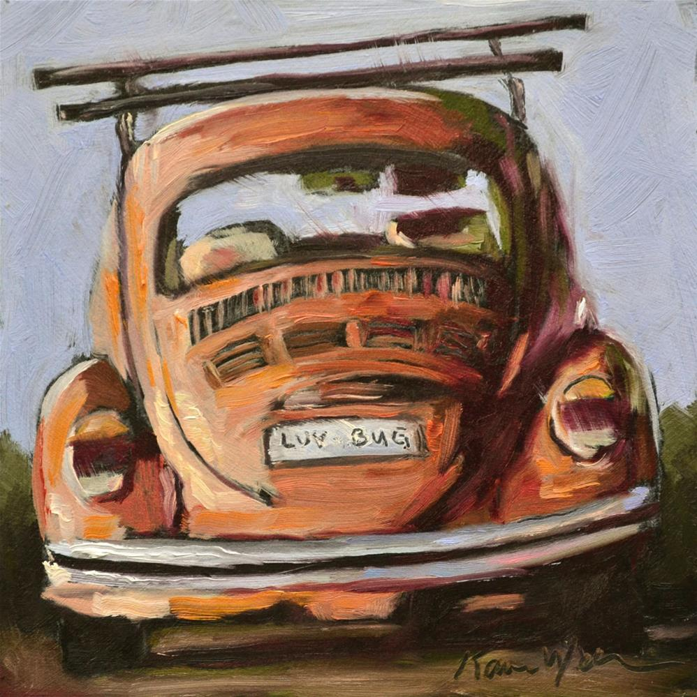 """Luv Bug"" original fine art by Karen Weber"
