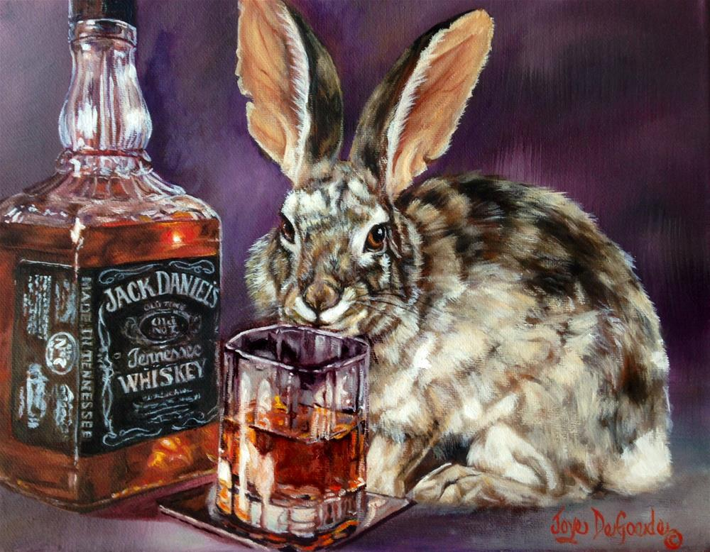 """Jack D. Rabbit by Joye DeGoede"" original fine art by Joye DeGoede"