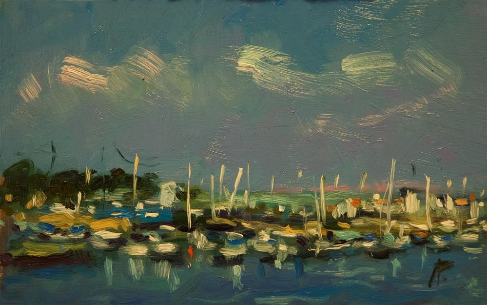 """Boats at Littlehampton"" original fine art by Andre Pallat"