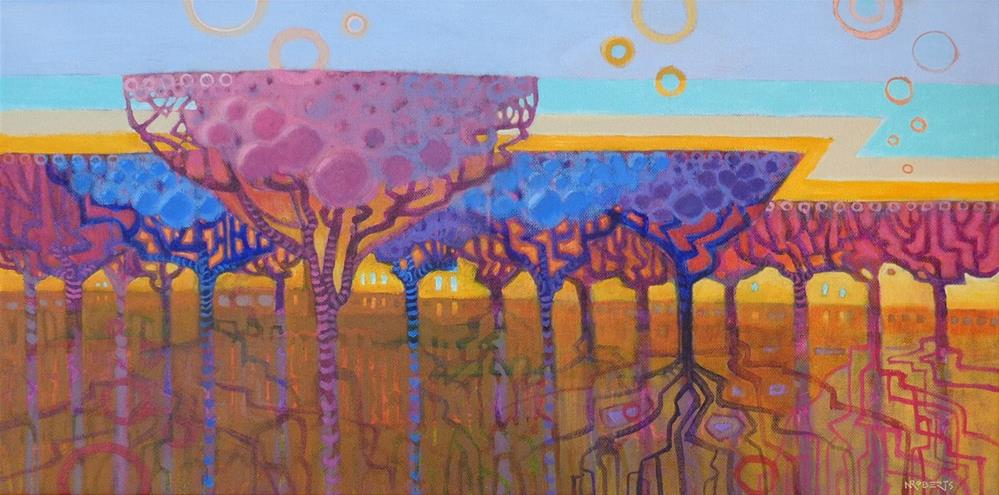 """Champagne Trees"" original fine art by Nancy Roberts"