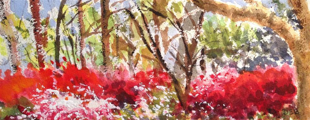 """Glencairn Gardens Rock Hill, SC"" original fine art by Debbie Yacenda"