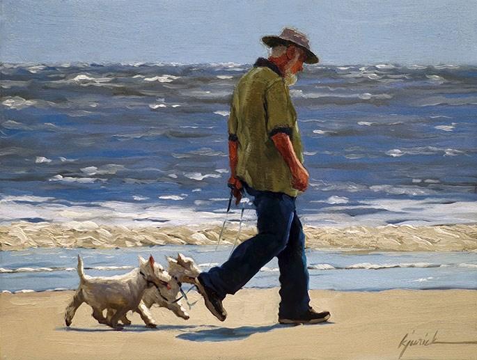 """Daily Exercise"" original fine art by Karin Jurick"