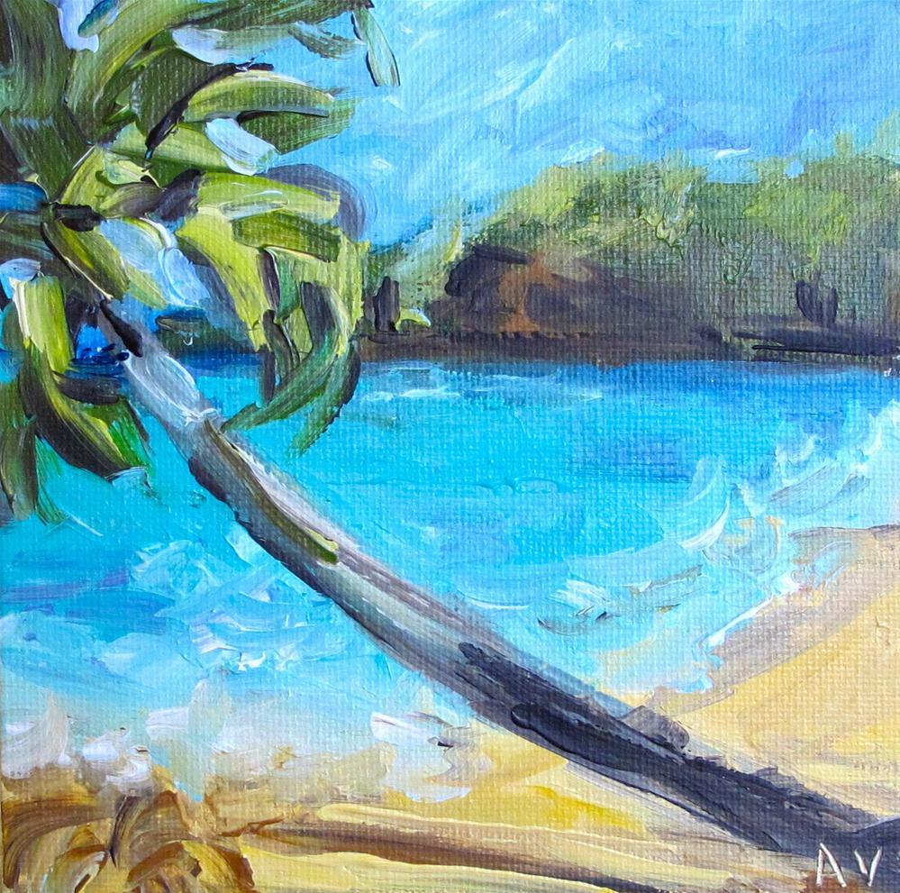 """""""Beach Scene 3"""" original fine art by Alina Vidulescu"""