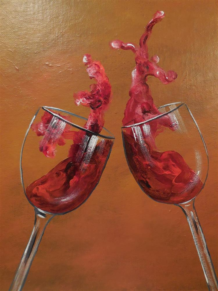 """Cheers"" original fine art by Terri Nicholson"