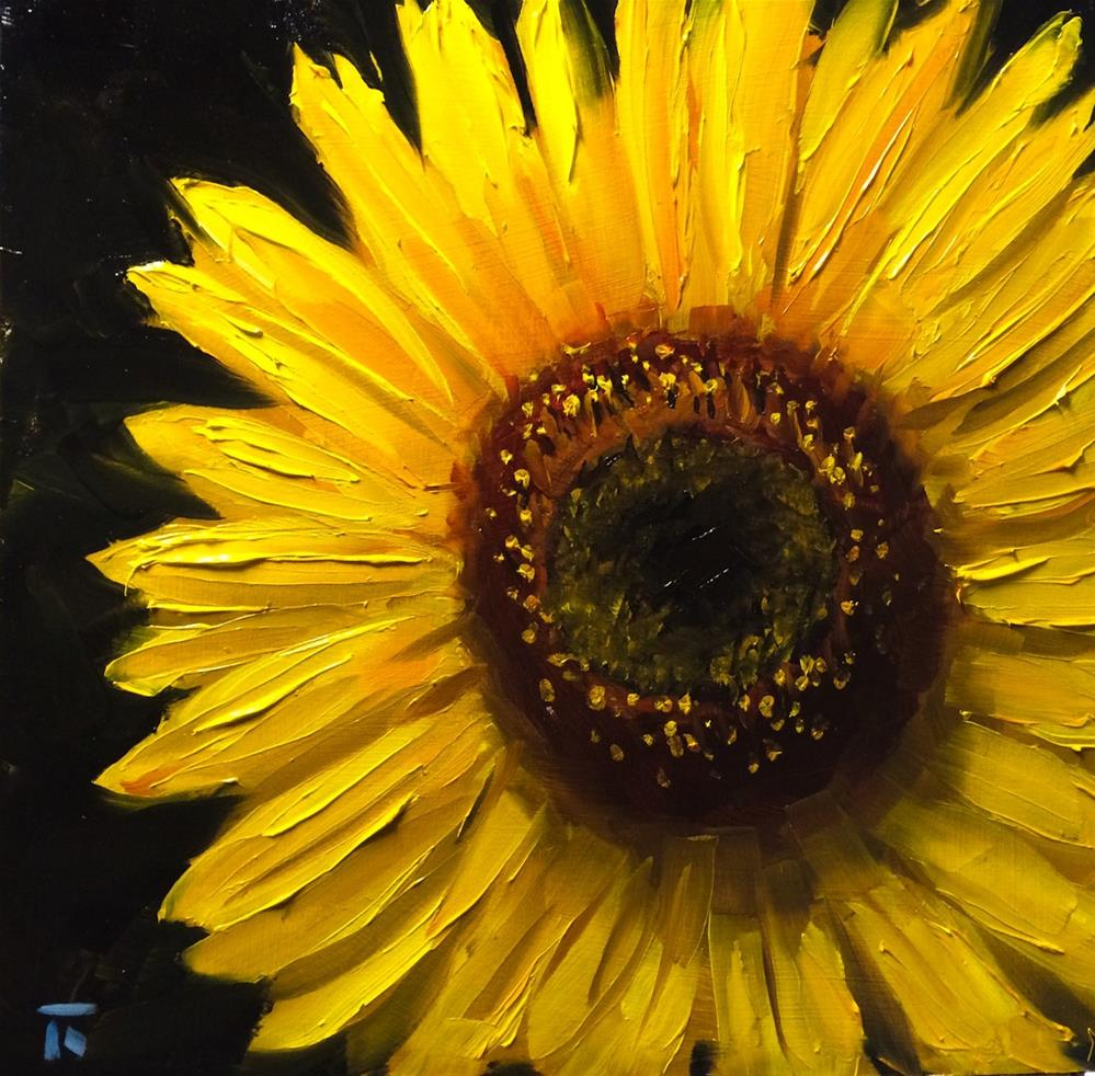 """Sunflower Study 2"" original fine art by Thomas Ruckstuhl"