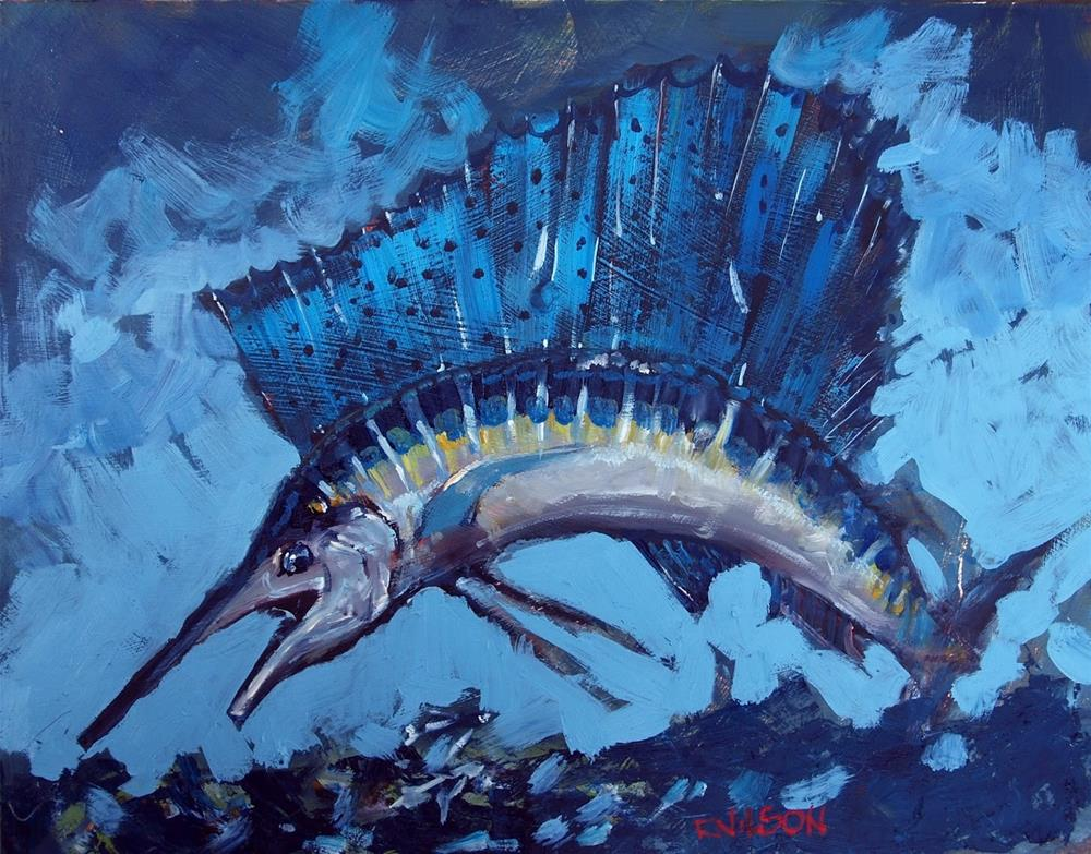 """Sailfish Cadillac of the Sea"" original fine art by Rick Nilson"
