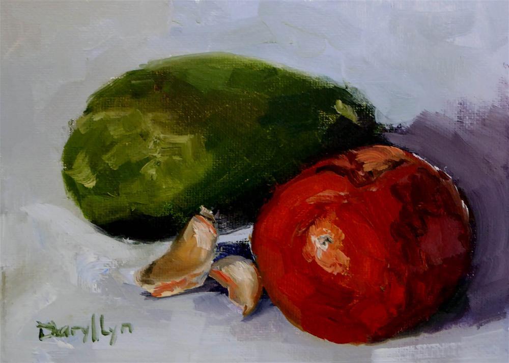 """P-397 Almost Guacamole"" original fine art by Daryl Lyn King"