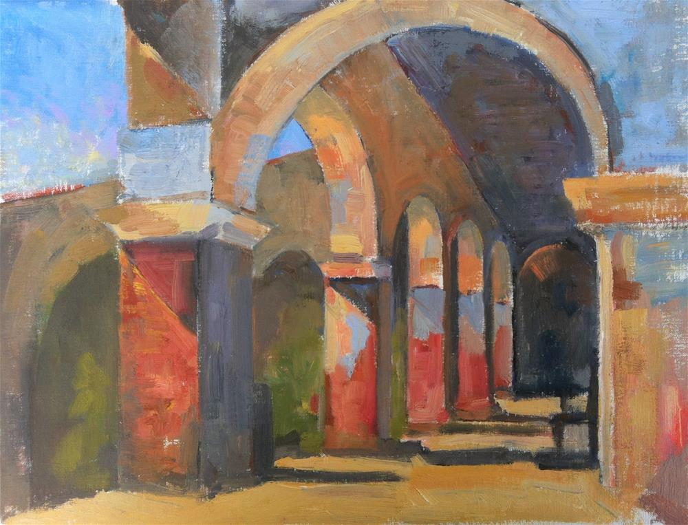 """San Juan Capistrano MIssion Summer Colors"" original fine art by Karla Bartholomew"