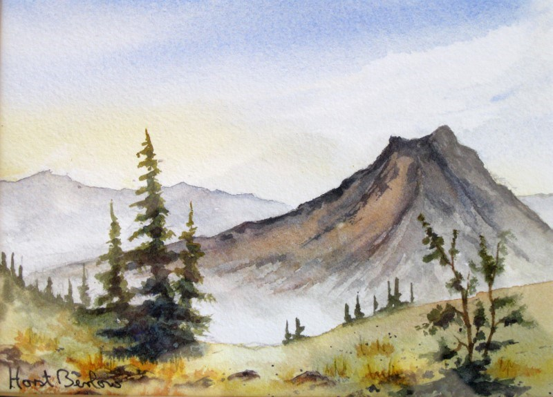 """Middle Mountain"" original fine art by Horst Berlow"