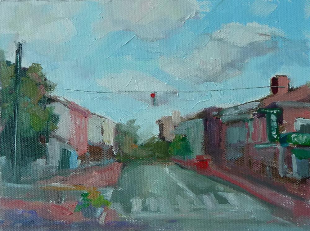 """Caroline Street"" original fine art by Carol Josefiak"