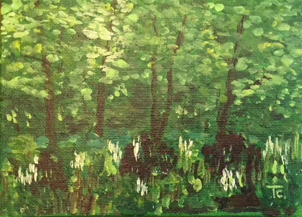 """Spring Shade"" original fine art by T.C. Poole"