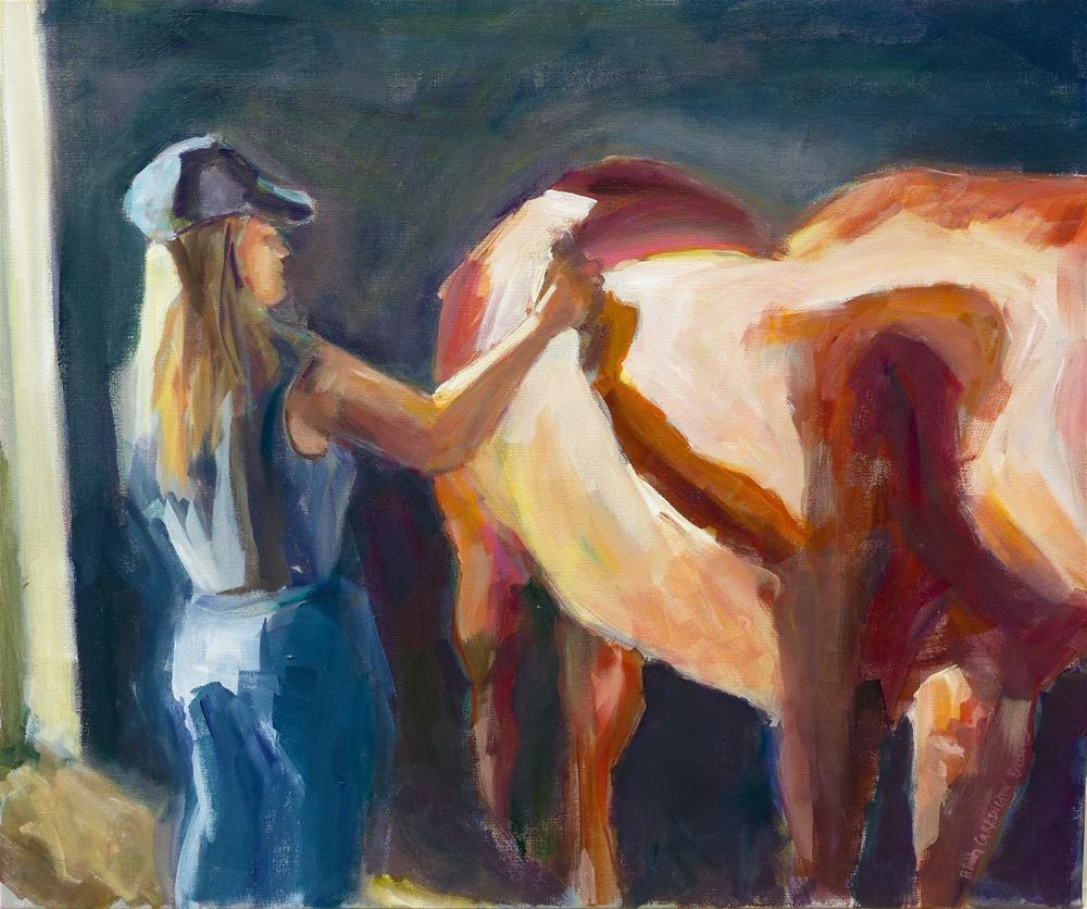 """A Girl and Her Horse"" original fine art by Beth Carrington Brown"