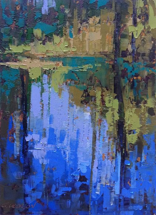 """""""Cedar Creek, Congaree"""" original fine art by Mary Gilkerson"""