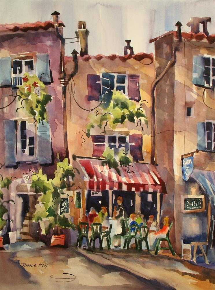 """Salon de the II"" original fine art by Jinnie May"
