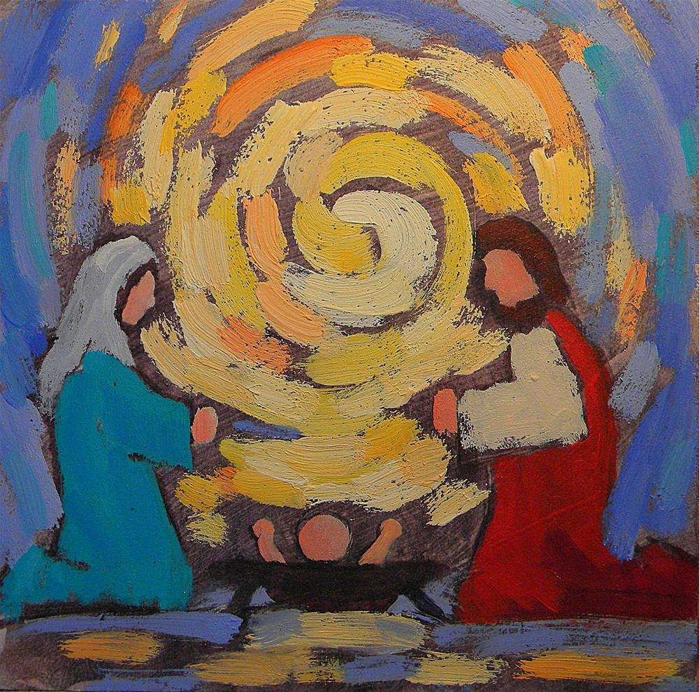 """Holy Family Portrait Contemporary Impressionism Heidi Malott"" original fine art by Heidi Malott"