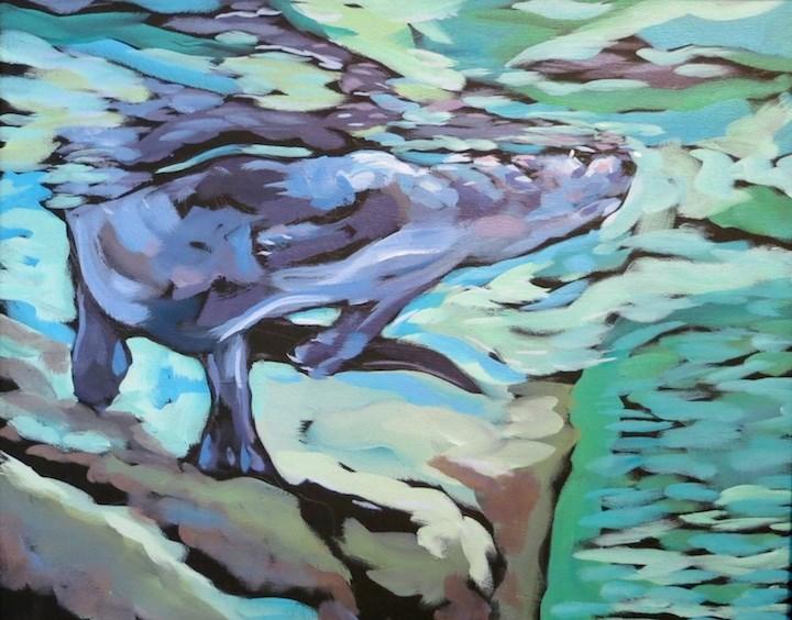 """Touching Both Worlds"" original fine art by Kat Corrigan"