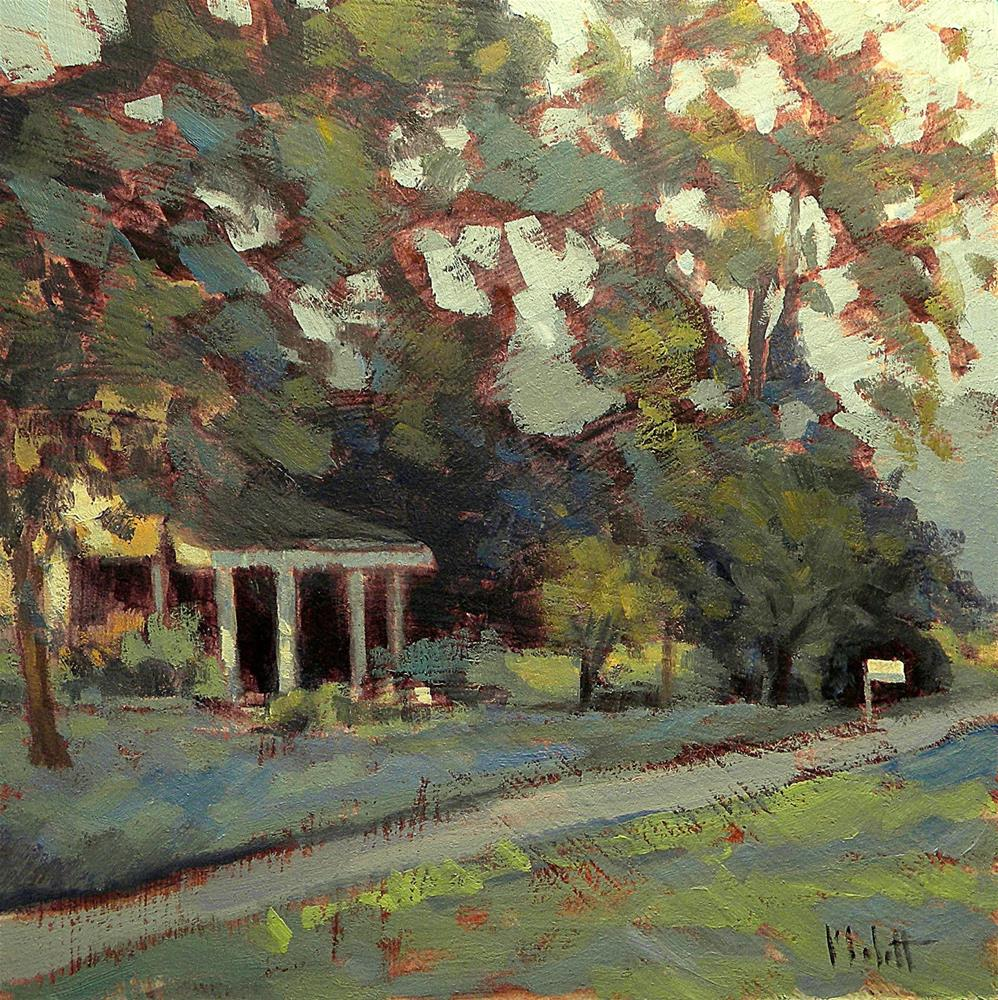 """Front Porch Homestead Painting Contemporary Impressionism"" original fine art by Heidi Malott"
