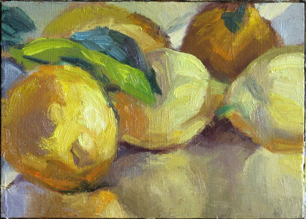"""Lemons up close"" original fine art by Myriam Kin-Yee"