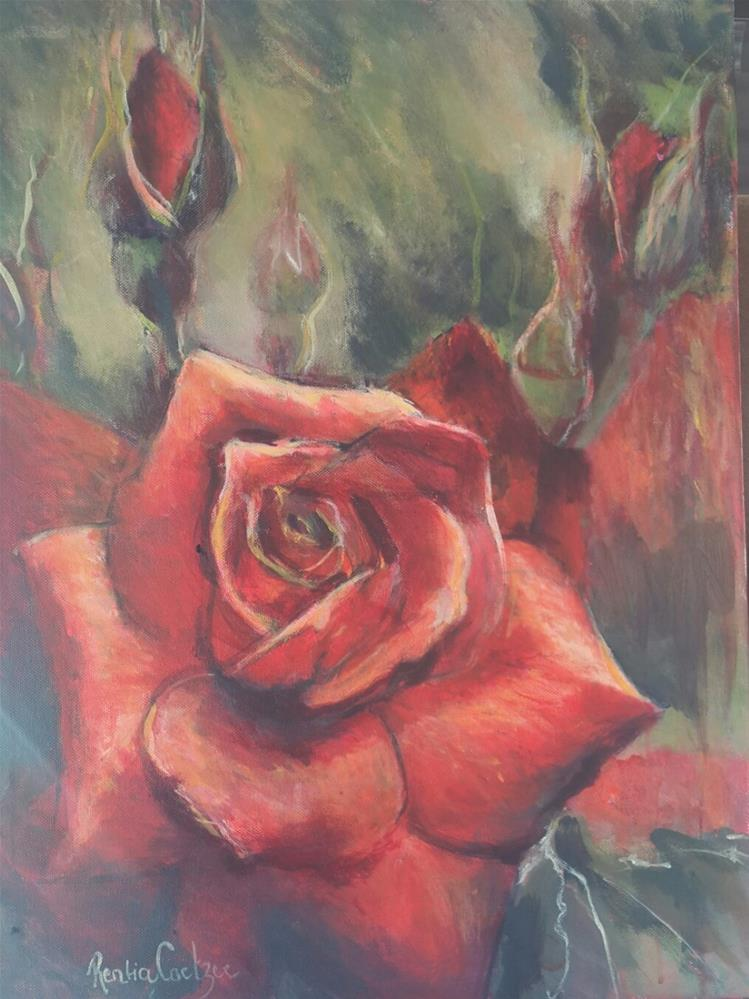 """Garden of my heart"" original fine art by Rentia Coetzee"