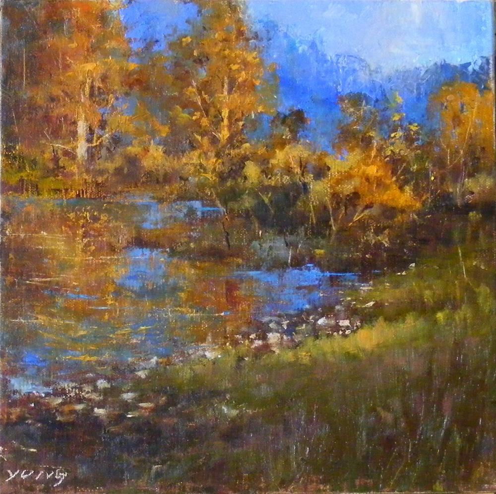 """Autumn Reverie"" original fine art by Celine K.  Yong"