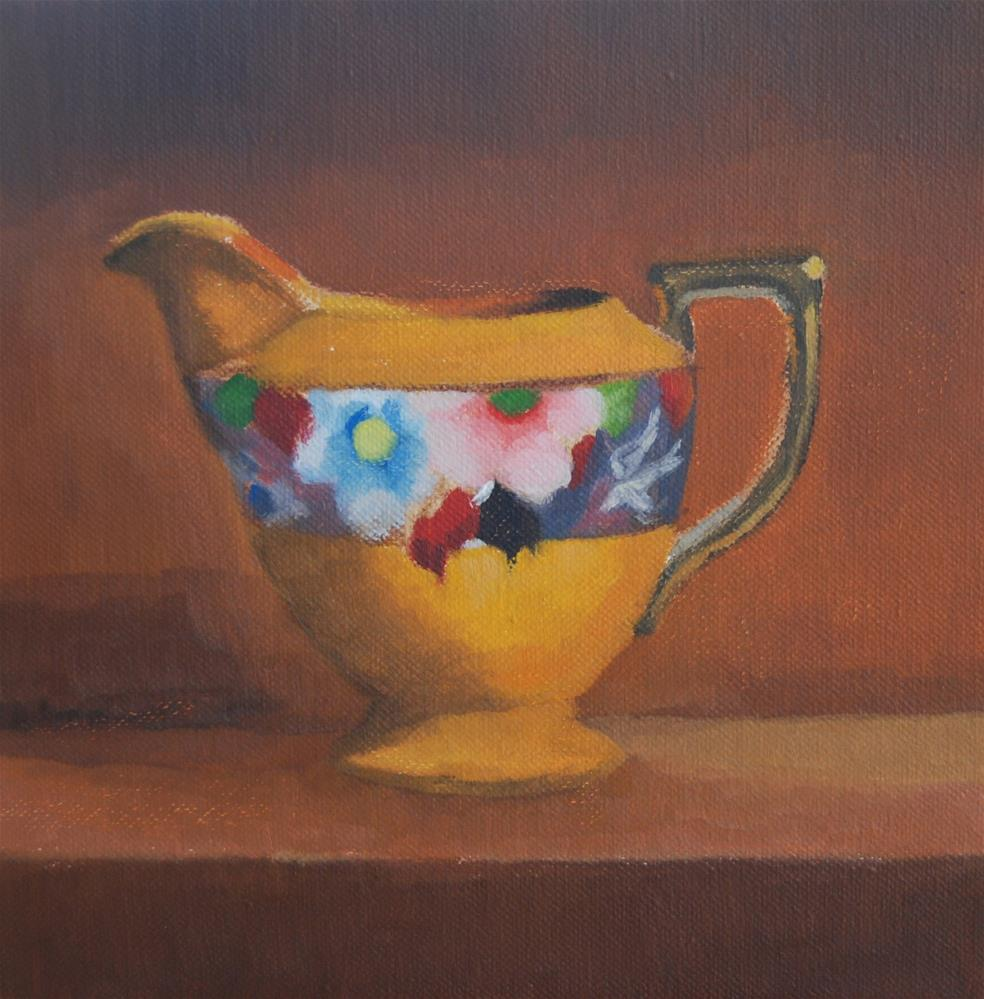 """Orange Pitcher"" original fine art by Cheryl Meehan"