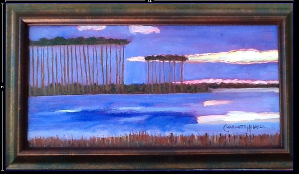 """FIERY COASTAL DUNE LAKE"" original fine art by Charlotte Bankhead Hedrick"