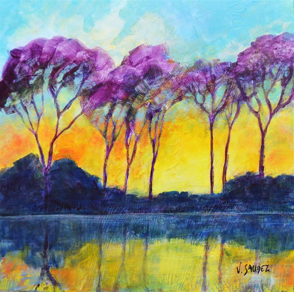"""Radiant morning 2"" original fine art by Véronique Saudez"