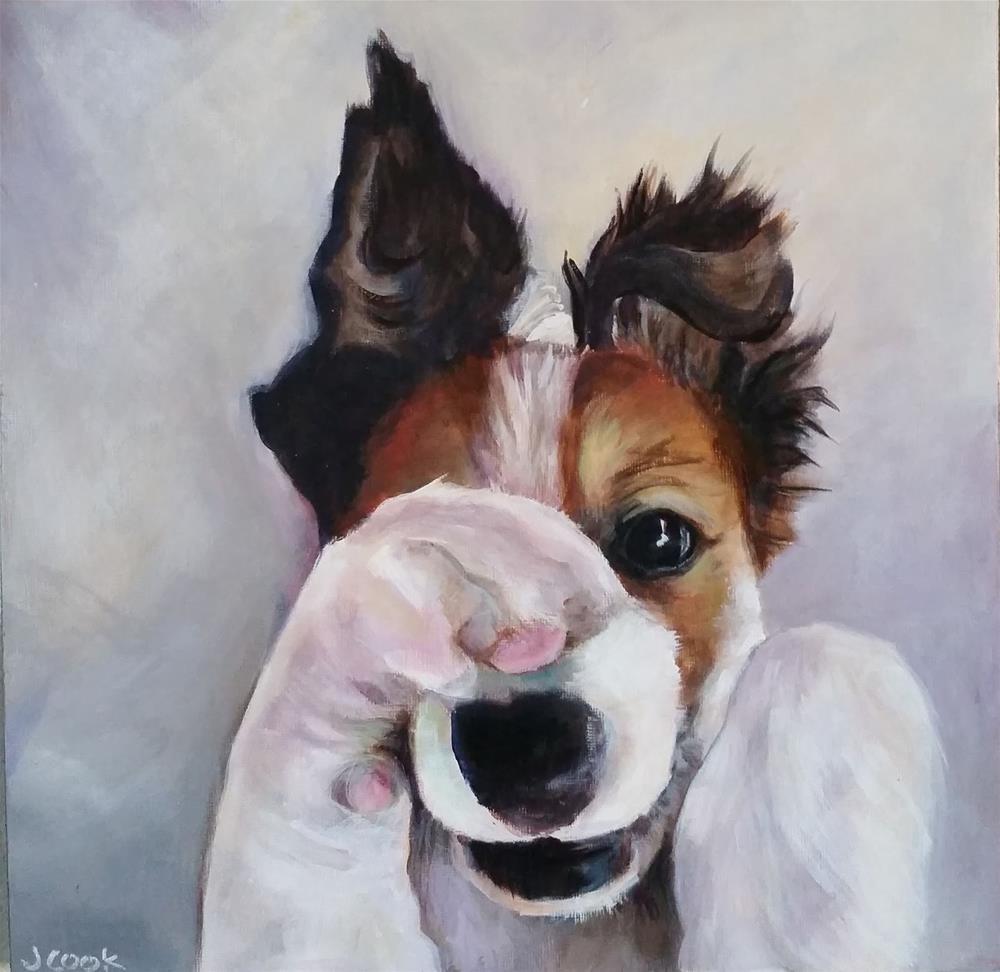"""Peek-A-Boo"" original fine art by Janice Cook"