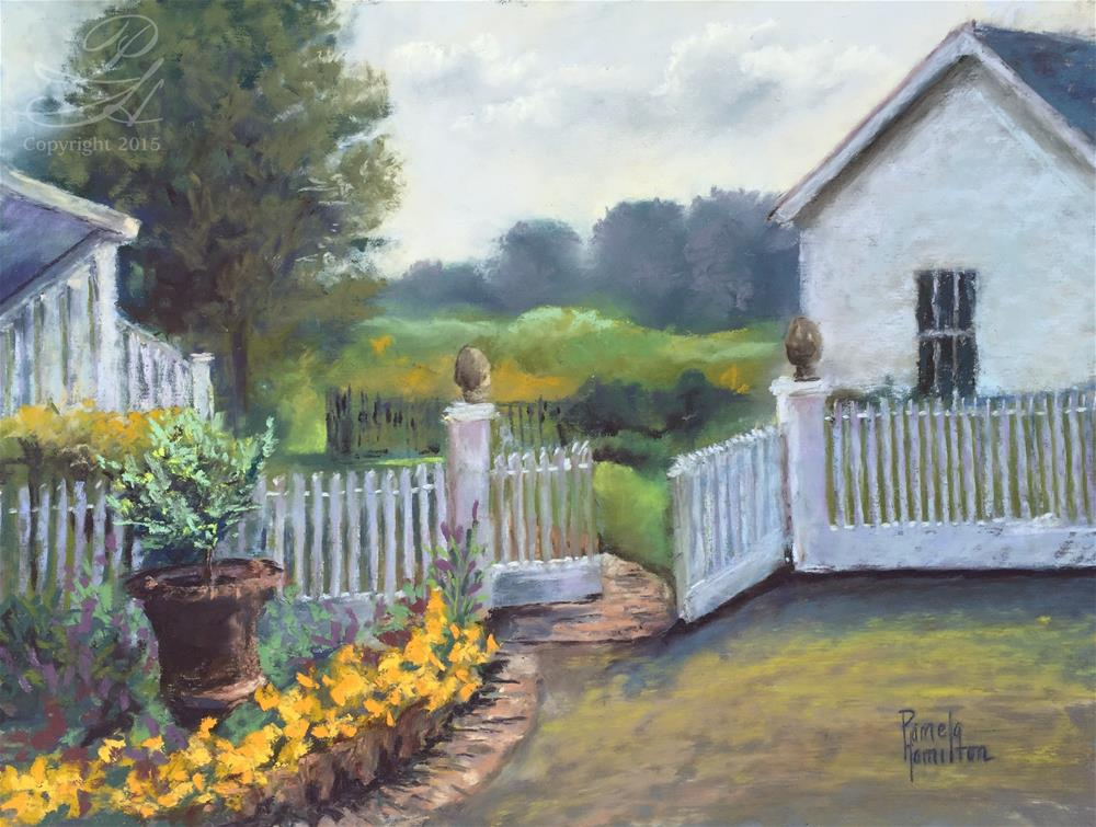 """Country Garden"" original fine art by Pamela Hamilton"