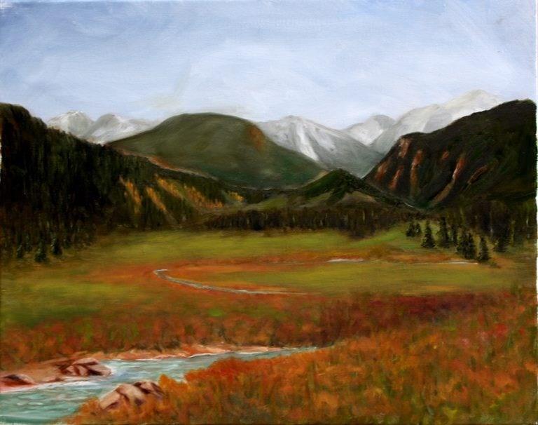"""Colorado Rockies"" original fine art by Mary Datum"