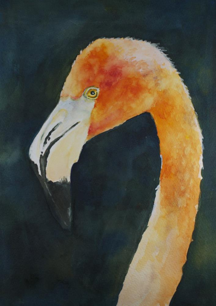 """Looking at You"" original fine art by Sue Churchgrant"