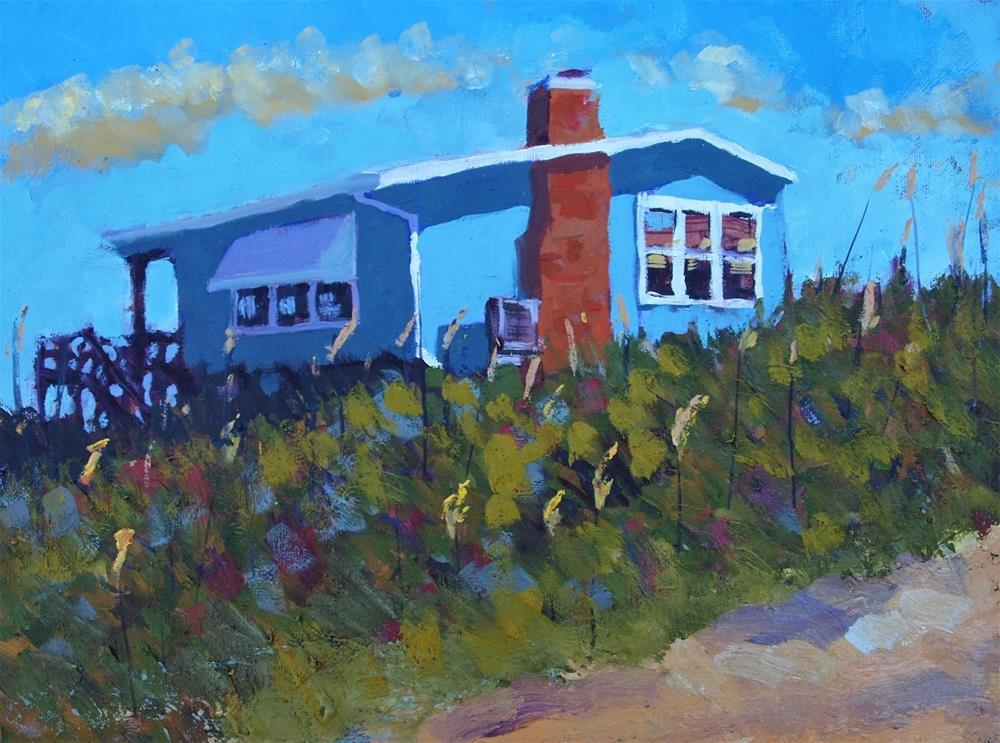 """Dunetop House"" original fine art by Rick Nilson"