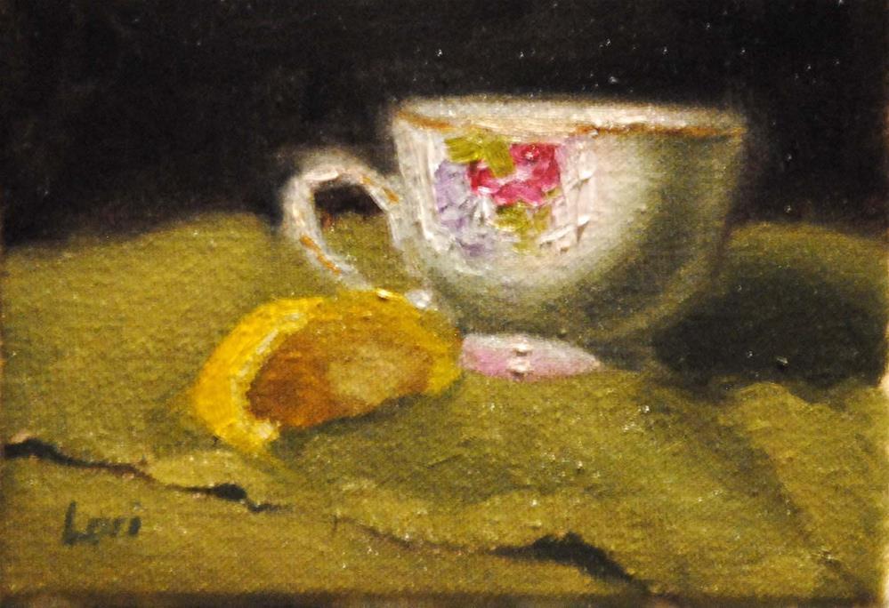 """Still Life with Lemon"" original fine art by Lori Jacobs - Farist"