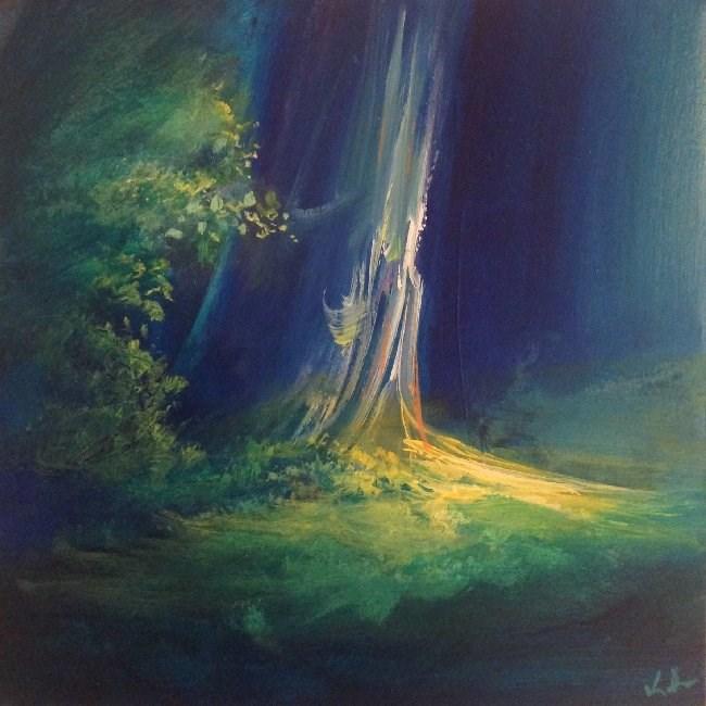 """A Mid-Forest Break"" original fine art by David Kuhn"