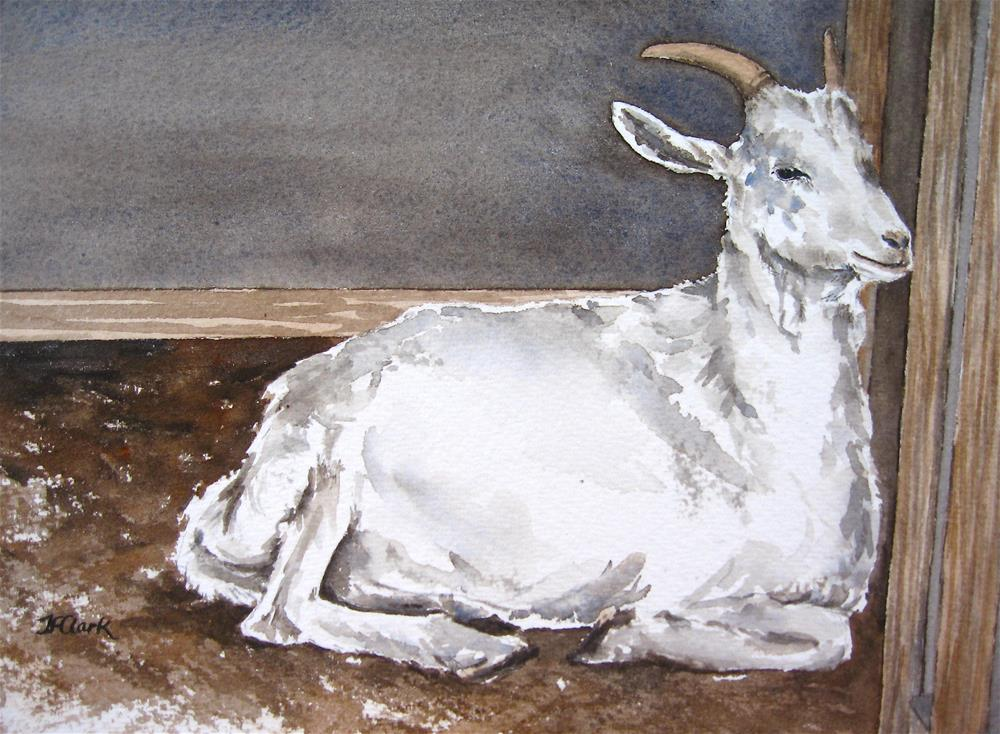 """Baby Goat"" original fine art by Judith Freeman Clark"