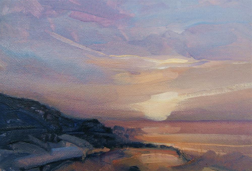 """""""Evening around Cromer"""" original fine art by Anne Wood"""
