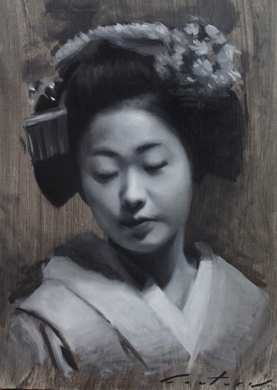 """Tonal Study of Katsunosuke"" original fine art by Phil Couture"