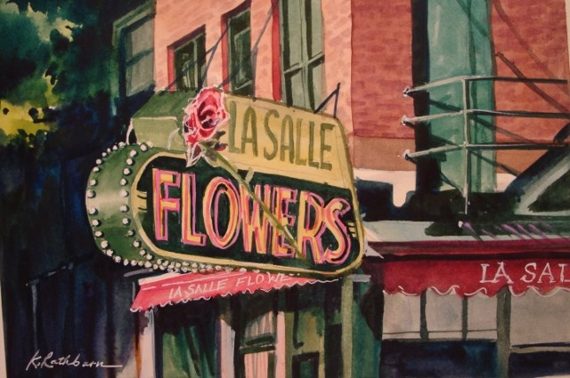 """LaSalle Flowers"" original fine art by Kathy Los-Rathburn"