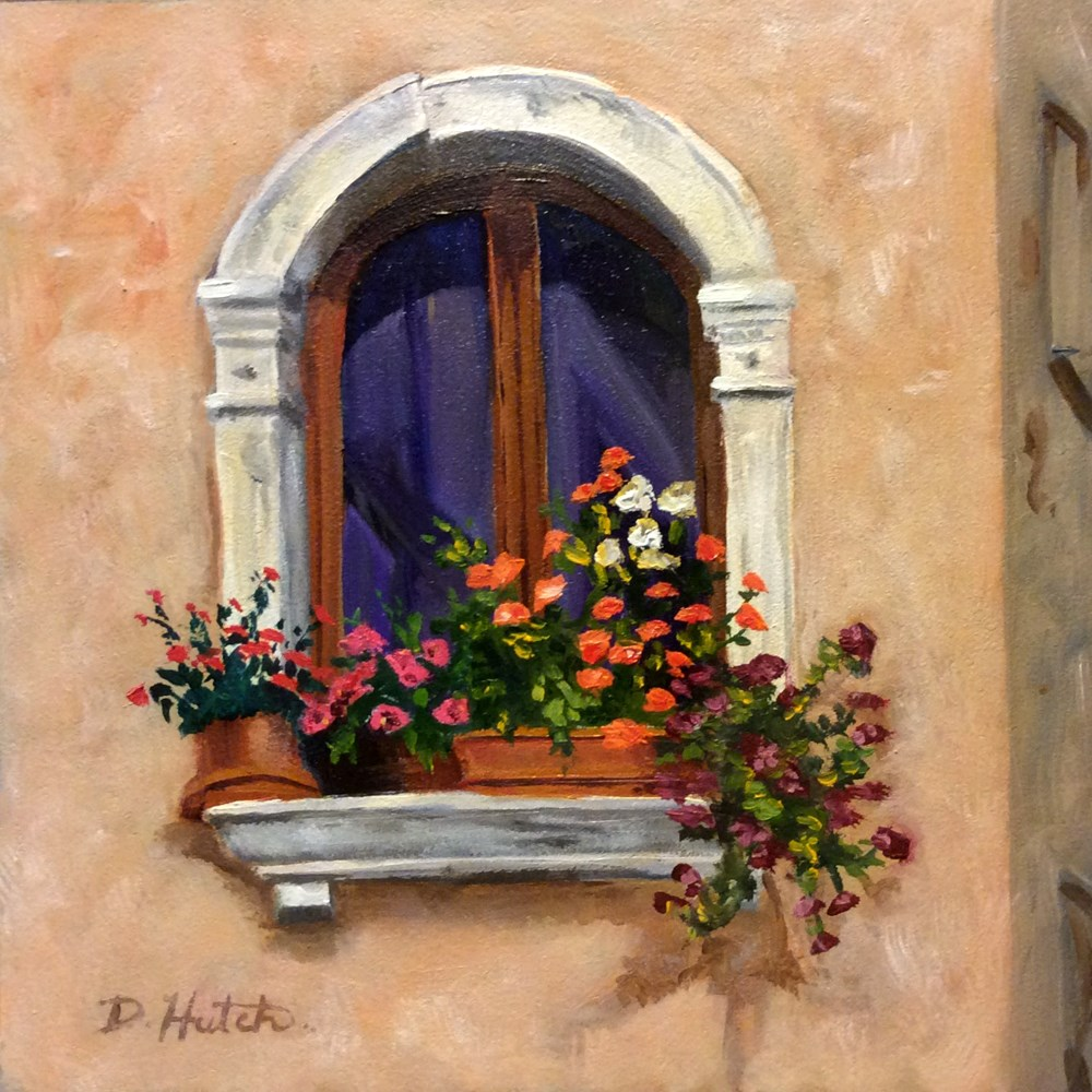 """Window with a View"" original fine art by Diane Hutchinson"