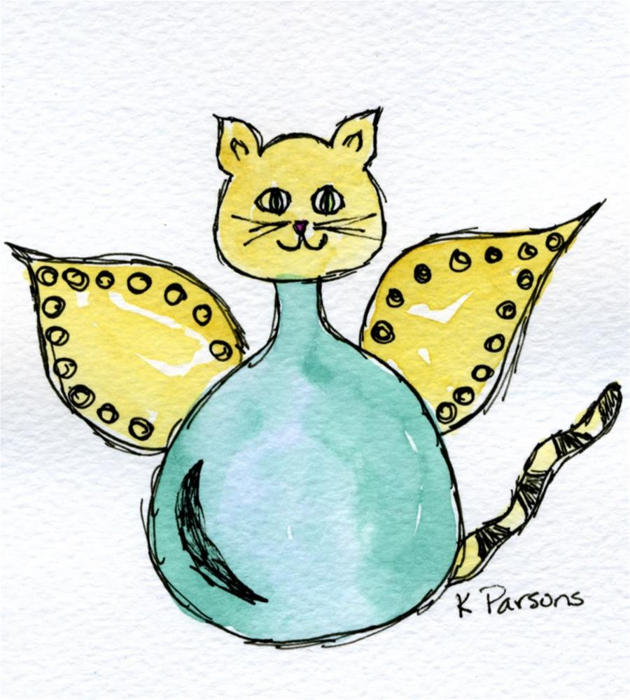 """""""Cat Scratch Fever"""" original fine art by Kali Parsons"""