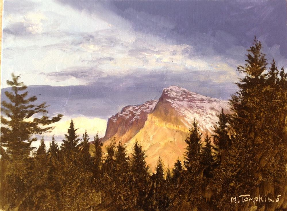 """Majestic Sunset"" original fine art by Mark Tompkins"