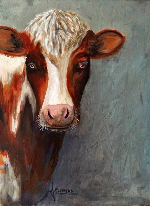 """Myrtle"" original fine art by Jolynn Clemens"