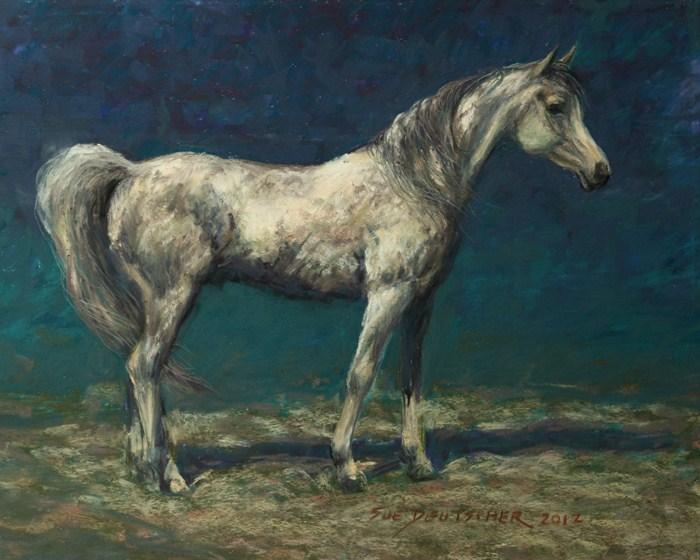 """""""Nasmat Asfour"""" original fine art by Sue Deutscher"""