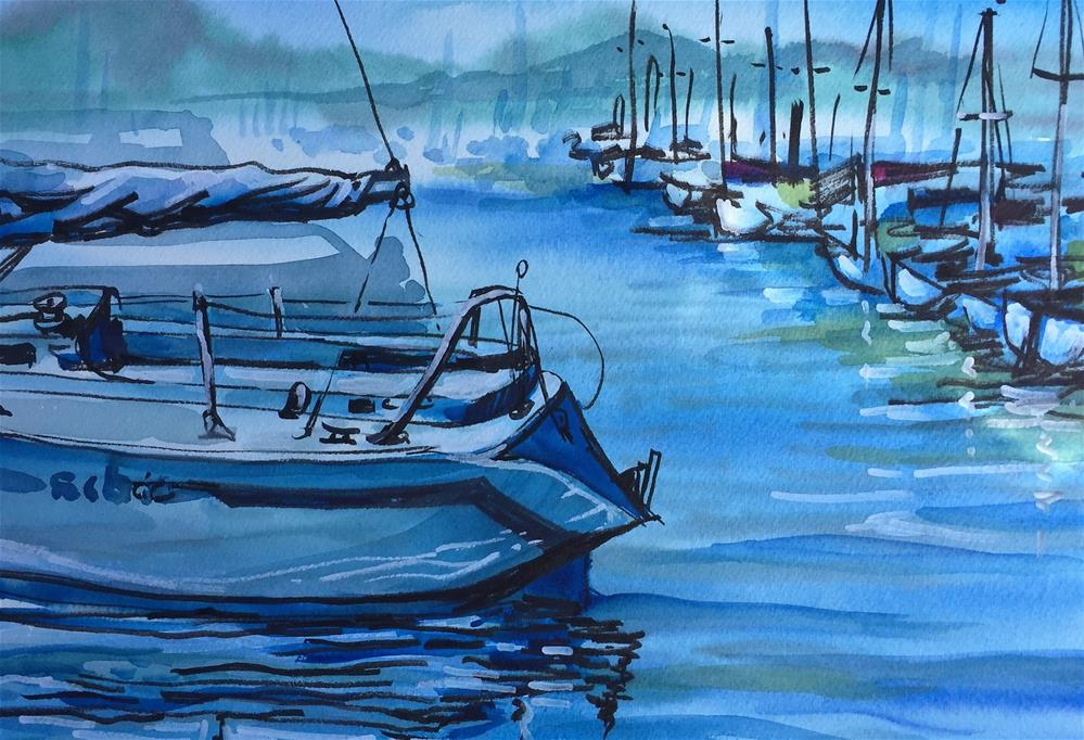 """Cap Sante"" original fine art by Sally Posner"