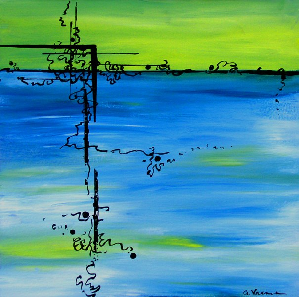 """Barriers"" original fine art by Anna Vreman"